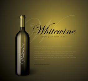 Fondo de negocio de botella de vino