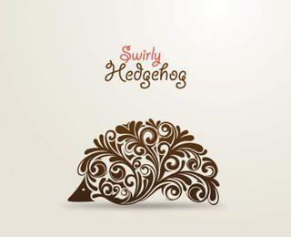 Ornaments Swirling in Hedgehog Shape
