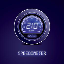 Digital Blue Speedometer