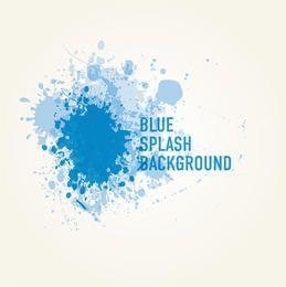Blue Paint Splashed Background