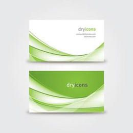 Green Waves Twofold Business Card