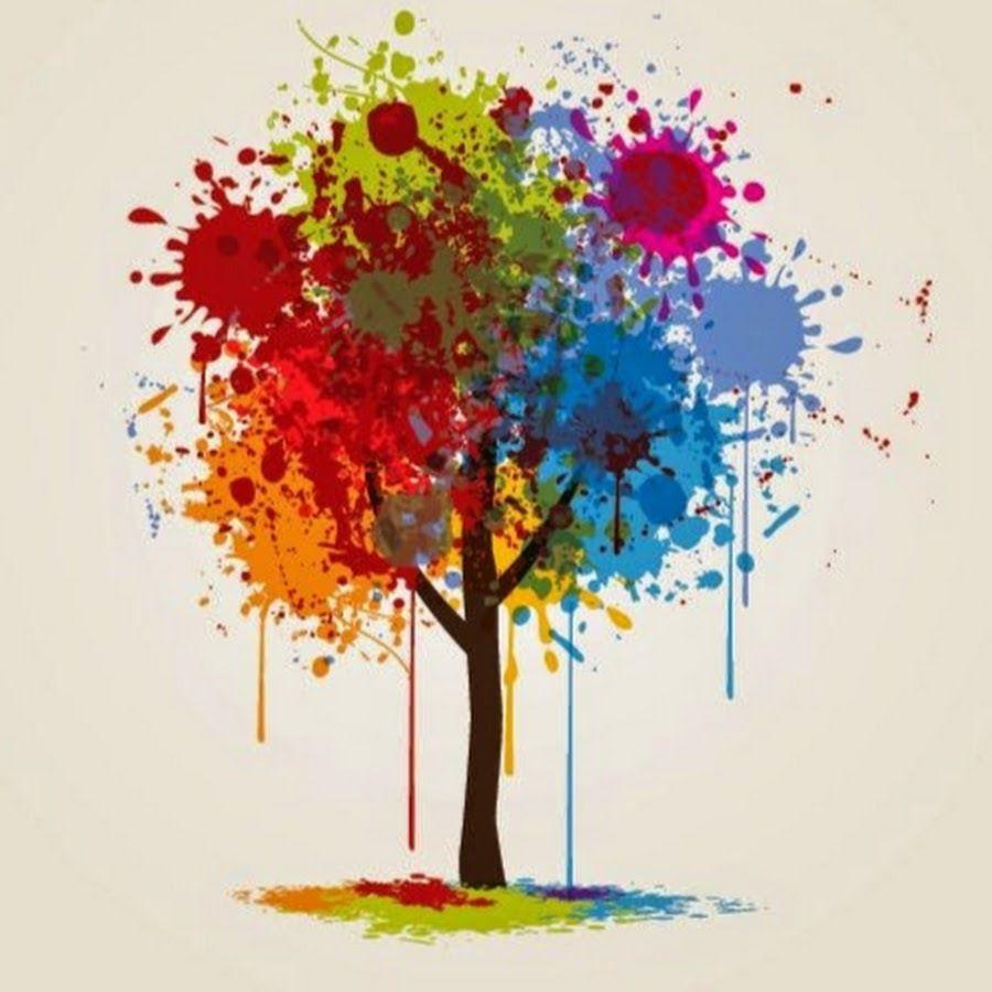 pintura colorida salpicado 193rbol descargar vector