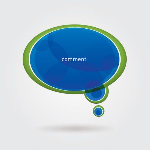 Blue Green Speech Bubble