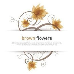 Flor de remolino tarjeta blanca