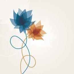 Plantas de flores en espiral abstracto