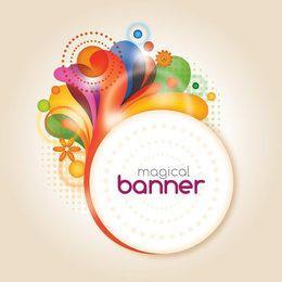 Splashed Swirls Circle Banner
