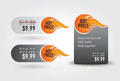 Hot Price Promotional Labels