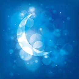 Moonlight Night Blue Background