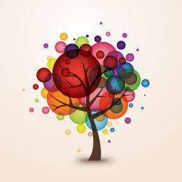 Colorful Bokeh Balloons Tree