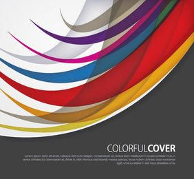 Cobertura curvada dos redemoinhos coloridos