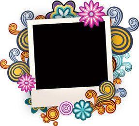 Colorido marco de fotos de remolinos