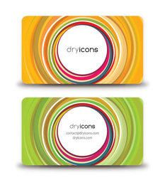 Abstract Colorful Circles Business Cards