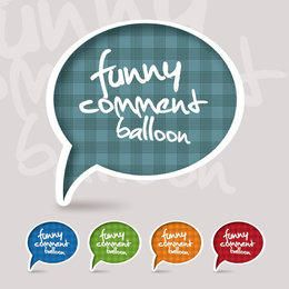 Funky Speech Bubble Set