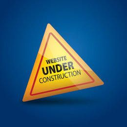 Website Under Construction Glossy Triangle