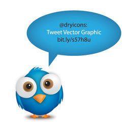 Cute Tweet Bubble with Bird