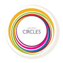 Fondo colorido mensaje circular