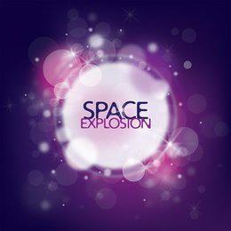 Fundo colorido de explosão de espaço
