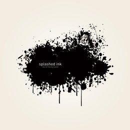 Black Splashed Ink Background