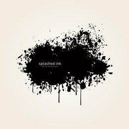 Fondo negro salpicado de tinta