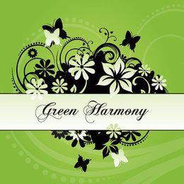 Tarjeta de la armonía de los remolinos de la flor