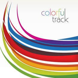 Colorful Curved Tracks Background