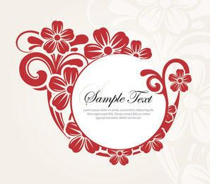 Decorative Round Flower Banner
