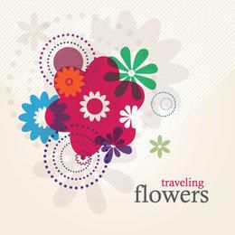 Funky Colorful Flowers Background