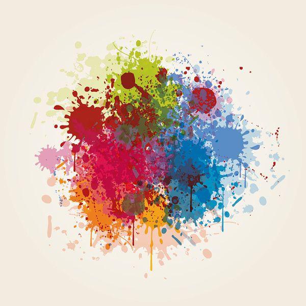 Sucios de pintura salpicaduras coloridas descargar vector - Salpicaduras de pintura ...
