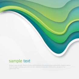Green Arched Waves Cover