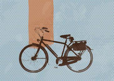 Bicicleta Retro Azul Totted Fundo