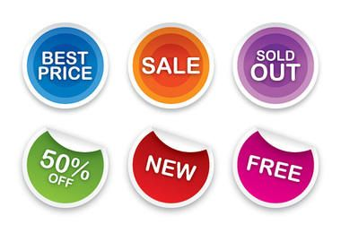 Colorful Sales Sticker Set
