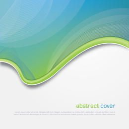 Abstract Arched Waves Cover