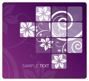 Tiled Swirls Purple Background