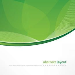 Abstract Green Curves Cover