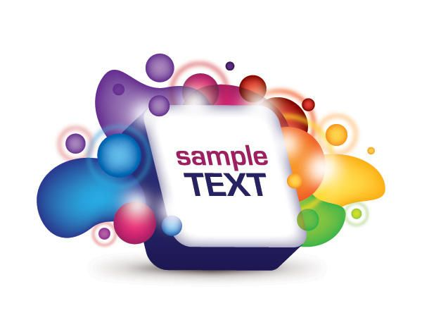 Abstract Splashed 3D Text Box