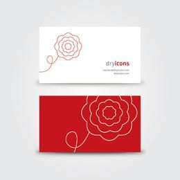 Minimal Floral Business Card