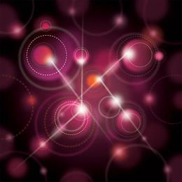 Fundo brilhante de esferas de galáxia