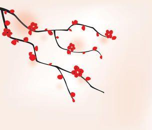 Fondo de árbol de flor oriental