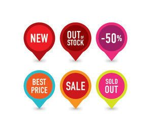 Colorful Sales Tag Set