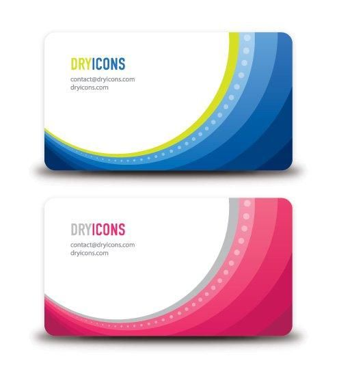 Round Frame Waves Business Card