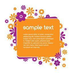 Orange Purple Flower Banner