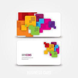 Colorful Squares Abstract Business Card