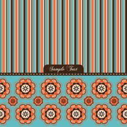 Colorful Stripe Flower Fabric Pattern