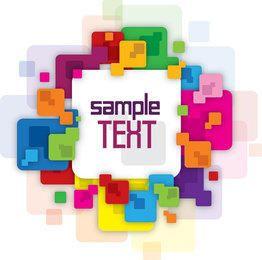 Banner de mensaje cuadrado colorido