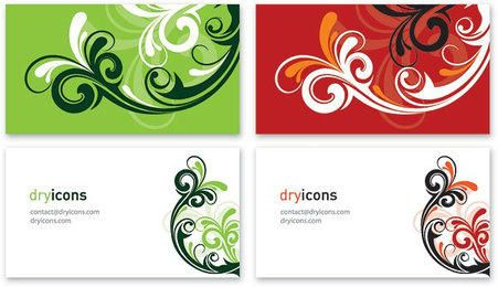 Two Parts Swirls Business Cards