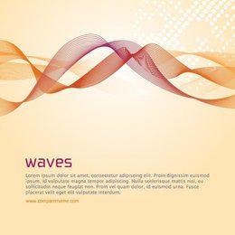 Spiral Waves Halftone Orange Background