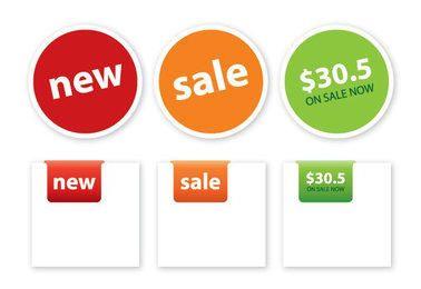 Square Round Price Tag Set