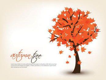 Fondo estacional de árbol de otoño