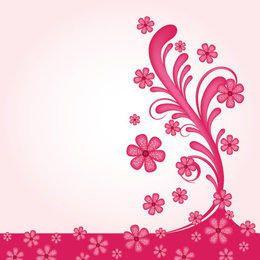 Rosáceo Remolinos florales Wallpaper