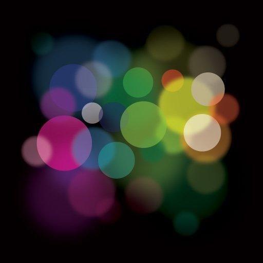 Colorful Minimal Bokeh Light Background